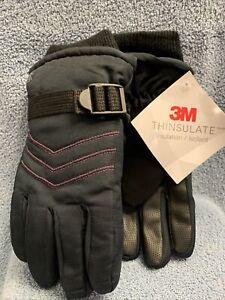 C9-Champion-3M-Thinsulate-Girls-Ski-Glove-Sz4-7-Adjustable-Wrist-Strap