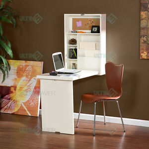 Image Is Loading Wall Mount Office Computer Desk Fold Down Convertible