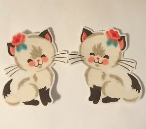 White-Kitty-Cats-Iron-On-Fabric-Appliques