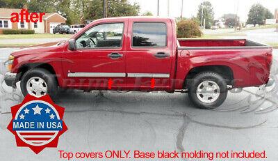 2005-2009 Chevy Colorado//Canyon Crew Cab Body Side Molding Overlay Accent 4Pc