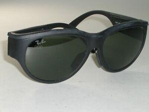 251bf1d8b3 VINTAGE B L RAY BAN 1992 THICK BLACK G15 UV OLYMPIC GAMES SPORT WRAP ...