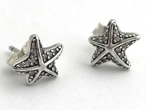 d98e07179 Image is loading Authentic-Pandora-Tropical-Starfish-Stud-Earrings -290748CZ-New