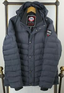 PAJAR-Size-XL-Mens-Hooded-Nylon-Poly-Insulated-Quilted-Winter-Jacket-Coat-Canada