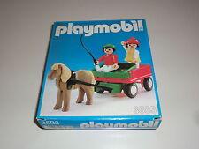 Playmobil Klicky 3583 Pony Calèche Entraîneur Années 70 80-me Ans