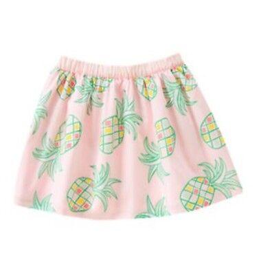 NWT Gymboree Girls Neon Pink Pineapple Skirt Island Cruise Size 4