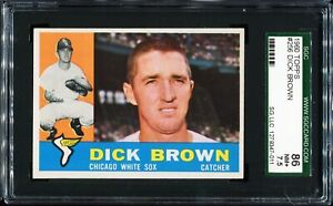 1960-Topps-Baseball-256-DICK-BROWN-Chicago-White-Sox-SGC-86-NM