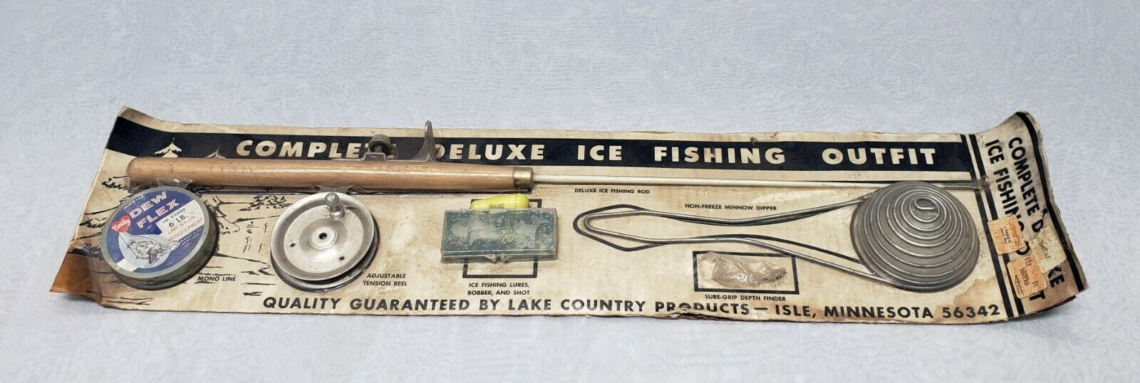 Vintage Complete Deluxe Ice Fishing Kit   outlet online store