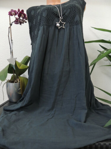 Damen Kleid Größe 46 48 50 52 54 Übergröße Kleider Maxikleid Uni Spitze 75