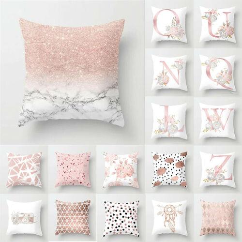 Pillow Pink Pillowcase Letter Car Case Decoration Throw Home Print Cushion Cover