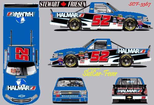 CD/_3367 #52 Stewart Friesen   Halmar Camping World truck   1:64 scale DECALS