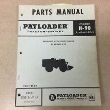 International Hough H 90 90b Parts Manual Book Catalog Wheel Pay Loader Shovel