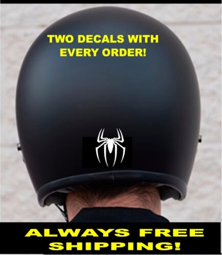 TWO SPIDER MOTORCYCLE HELMET 3m REFLECTIVE DECALS