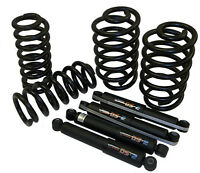 63-72 Chevy Truck Drop Coil Springs & Shock Set - 2 Front 2 Rear