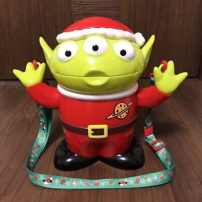 Tokyo Disney Limited Popcorn Bucket Toy story Alien Santa Little Green Men F//S
