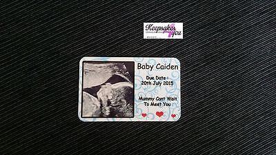Foto Personalizzata Wallet Insert Card Baby Scansione Design-ragazzo / Ragazza- Lucentezza Luminosa