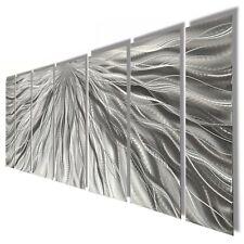Brillant Silver Modern Large Metal Wall Panel Sculpture Jon Allen Silver Decor