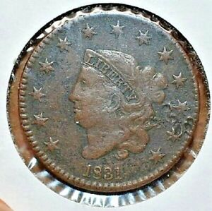 1831-CORONET-HEAD-LARGE-1C-ONE-CENT