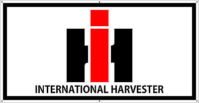 International Harvester Logo >> Vintage International Harvester Logo Tractor Banner Ebay