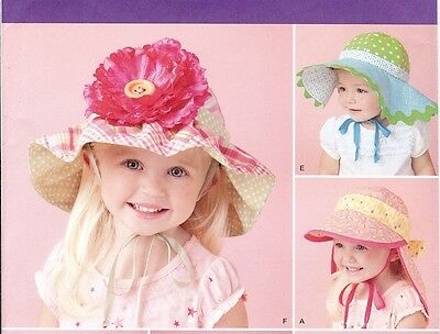 Baby Sun Protection hats PATTERN Simplicity 1682 Infant Toddler New + Classic
