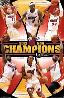 Miami Heat NBA Champions LeBron James Dwayne Wade Chris Bosch 22x34 Poster