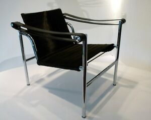 cassina lc1 le corbusier jeanneret perriand design lounge chair fauteuil pony ebay. Black Bedroom Furniture Sets. Home Design Ideas