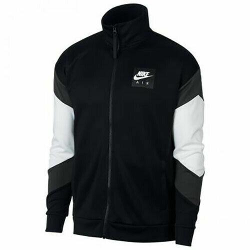 Mens Nike Air Track Jacket Polyknit Size L XL Black White Grey Gray AJ5321 010