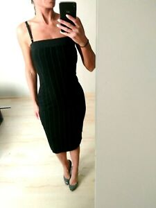 AUTH-Dolce-amp-Gabbana-D-amp-G-black-striped-Dress-sz-40