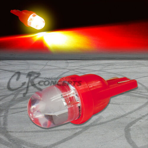 10MM ROUND LED T10 W5W 194 168 RED INTERIOR ROOF DOME 12V LIGHT BULB//LAMP//BULBS