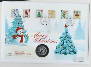 2016 CHRISTMAS NATIVITY FINE SILVER £20 COIN STAMP COVER SET IN FOLDER.