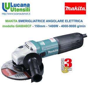 MAKITA-SMERIGLIATRICE-ANGOLARE-ELETTRICA-modello-GA6040CF-150mm-1400W-9000g-min