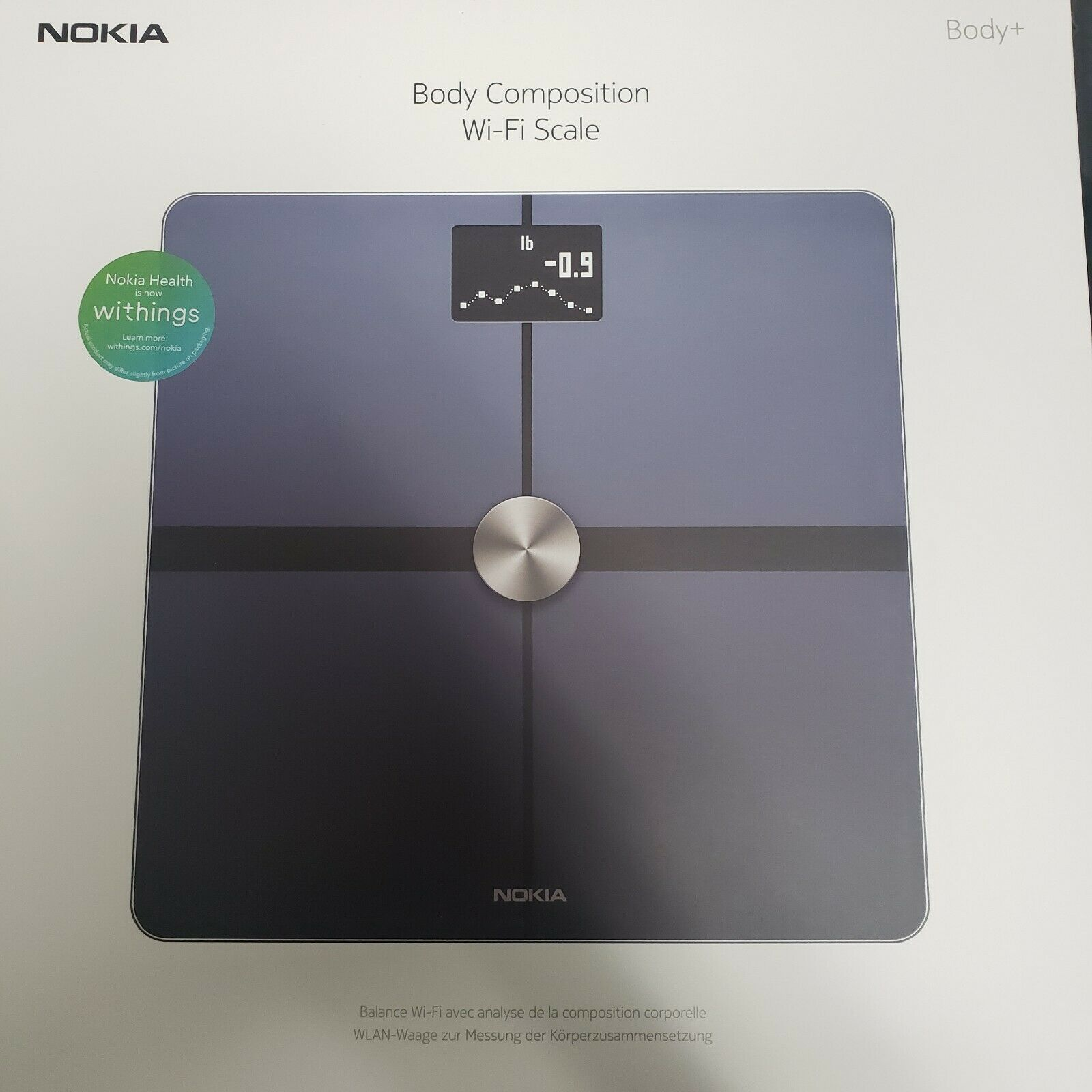 Withings // Nokia White Withings Inc WBS05-White-All-Inter Body+ Smart Body Composition Wi-Fi Digital Scale with smartphone app