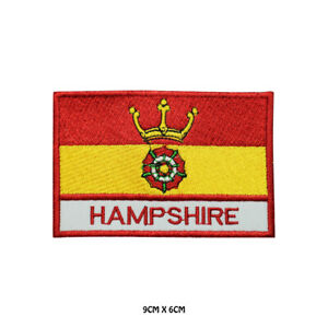 HAMPSHIRE-County-Flag-With-Name-Embroidered-Patch-Iron-on-Sew-On-Badge