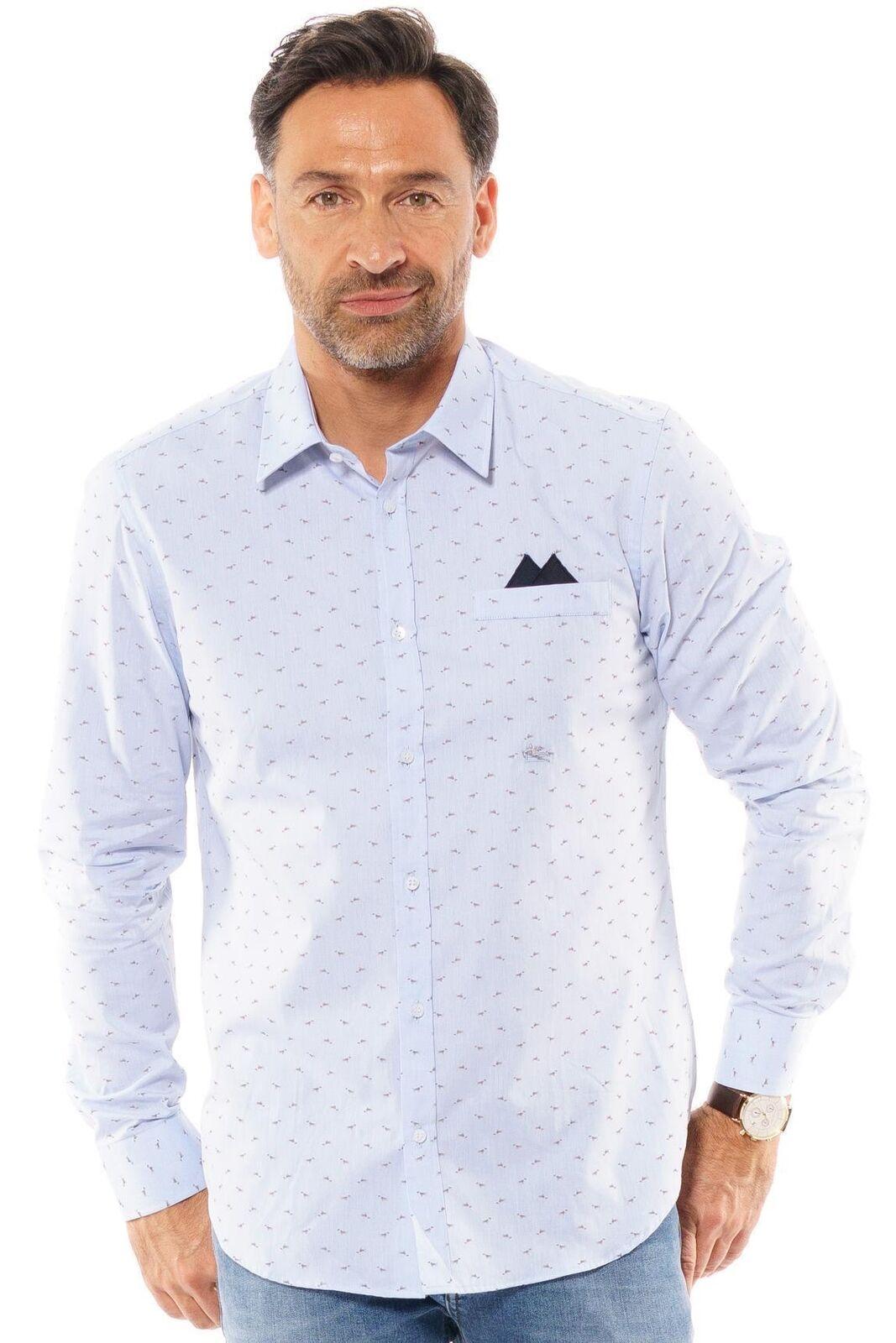 ETRO - Hemd Herren langarm blau Business Oberteil Premium Shirt     | Stilvoll und lustig