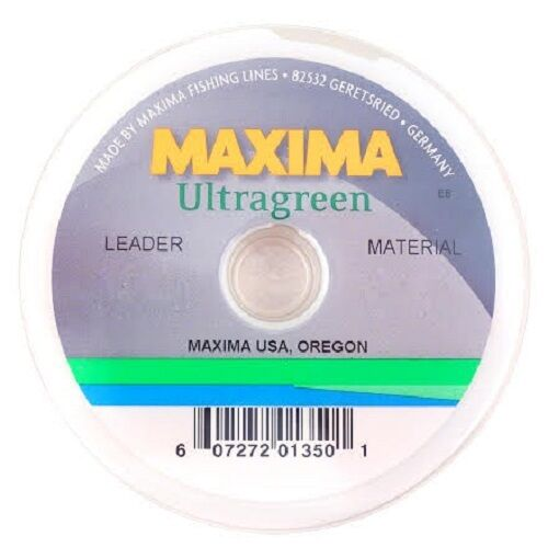 NEW MAXIMA ULTRAGREEN LEADER MATERIAL 20LB 27YD SPOOL fly fishing durable