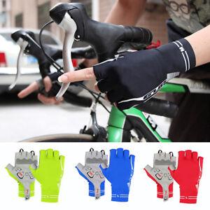 Ee-Eg-Unisex-Sports-Guantes-Ciclismo-Medio-Dedo-Bicicleta-Equitacion-Mitones