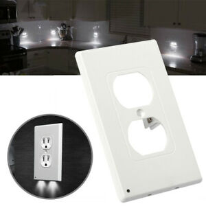 Night-Angel-Light-Wall-Outlet-Coverplate-With-2-LED-Night-Lights-Auto-on-off