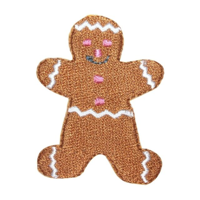 1PC ~GINGER BREAD MAN~IRON ON EMBROIDERED PATCH