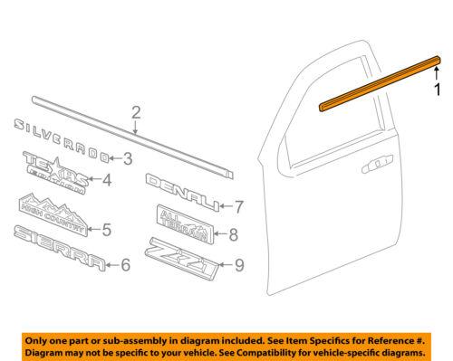 GM OEM-Door Window Sweep-Belt Molding Weatherstrip Left 84025007