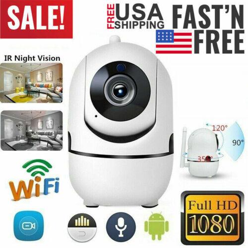 HD 1080P Pan//Tilt//Zoom Wi-Fi IP Camera Indoor Home Security Surveillance System