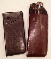 Eyeglass Case, Slip-in With Snap, Padded Interior, Brown Or Black 6.5 X 3 In.