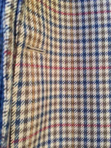 Pure lana Wool scozzese Vintage scozzese giacca New pura Blazer vergine Plaid Blazer in Brown 42 vintage 42 marrone jacket qBYnwP