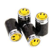 Smile Face Car Accessory Wheel Tyre Tire Valve Caps Air Dust Cover Carbon Fiber