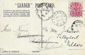 1906-Australia-New-South-Wales-Lucknow-POSTCARD-Ireland-Port-Steward-reindirizzare