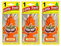 Coconut Scented Little Trees Hanging Car Air Fresheners 24pk Sealed