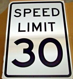 "18"" x 24"" .080 Aluminum Engineer Grade Sheeted Speed Limit 30 Sign"