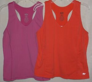 df86f3d9c7dba Lot 2 Womens M 8 10 Athletic Works bra shelf racerback tops purple ...