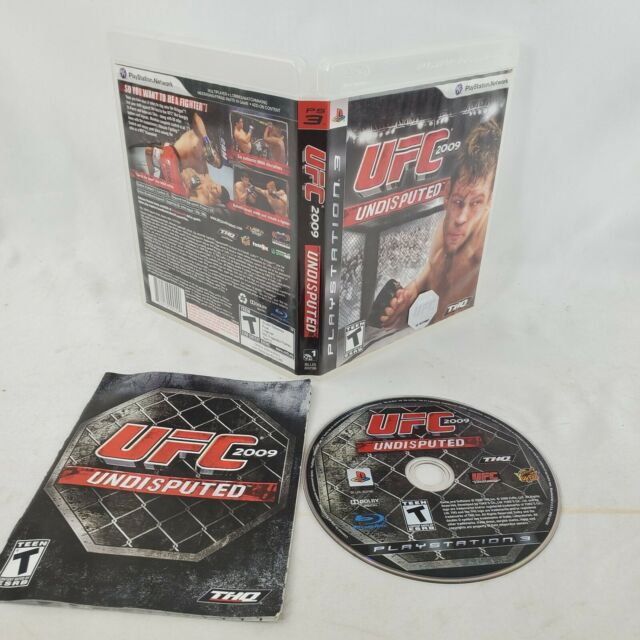 UFC Undisputed 2009 Sony PlayStation 3 PS3 GAME COMPLETE