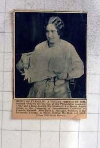1927-Helen-L-Flanagan-University-Pennsylvania-Franklin-Material