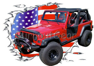 2005 Red Jeep Wrangler 4x4 B Custom Hot Rod Usat T Shirt 05 Muscle