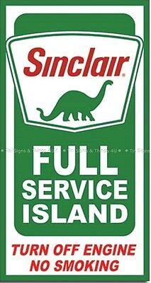 Sinclair Dino Full Service Island garage oil gas station metal TIN SIGN ad #2050